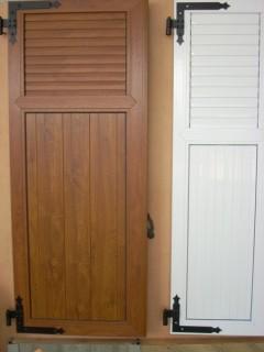 Modèles De Volets Battants En PVC Couleur Chêne Doré Ou Blanc. Existe En  Différentes Coloris, En Fonction Du PVC, De Lu0027Alu Ou Du Bois.