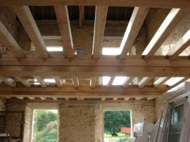 reprise,construction,passage,électricité,plancher,normand,spots intégrés,plafond,bois,solidité,renforcer,solidifier,solide,